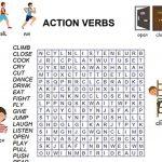 Action Verbs Kelime Bulmacası